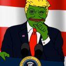 פפה-טראמפ, מם אינטרנטי שהופץ במהלך מערכת הבחירות לנשיאות ארצות-הברית, בין היתר באמצעות חשבון הטוויטר של דונלד טראמפ (יוצר לא ידוע)