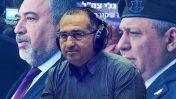 """מפקד גלי צה""""ל שמעון אלקבץ (במרכז); ברקע: הרמטכ""""ל גדי אייזנקוט ושר הביטחון אביגדור ליברמן (צילומים: נועם ריבקין-פנטון, """"העין השביעית"""" ופלאש 90)"""