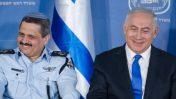 """ראש ממשלת ישראל, בנימין נתניהו, עם המפכ""""ל רוני אלשיך בטקס מינויו לתפקיד, 3.12.15 (צילום: מרים אלסטר)"""