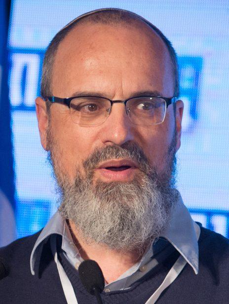 """עמנואל שילה בכנס של """"בשבע"""", 2017 (צילום: יונתן זינדל)"""