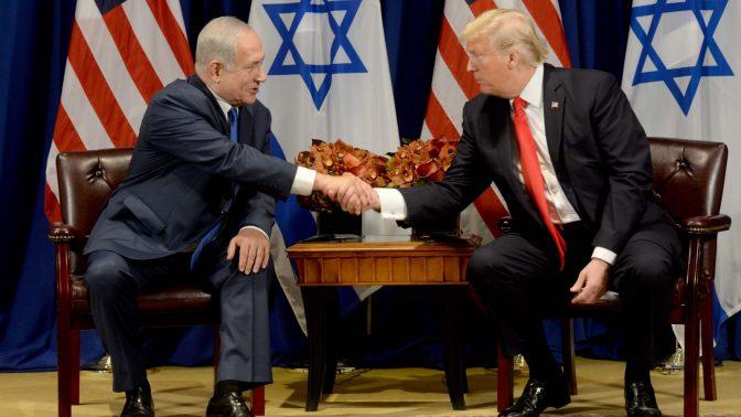"""בנימין נתניהו ודונלד טראמפ בפגישתם בניו-יורק, 18.9.17 (צילום: אבי אוחיון, לע""""מ)"""