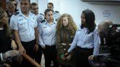 עהד תמימי בבית-הדין הצבאי במחנה עופר, 28.12.18 (צילום: פלאש 90)
