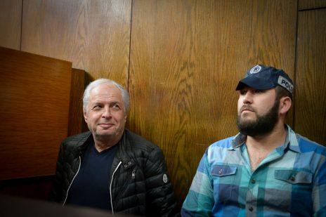 שאול אלוביץ' בבית-המשפט המחוזי בתל-אביב, בדיון על הארכת מעצרו. 22.2.2018 (צילום: פלאש 90)