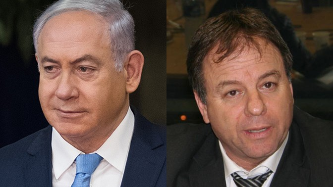 """ראש לשכת ראש הממשלה יואב הורוביץ וראש הממשלה בנימין נתניהו (צילומים: """"העין השביעית"""" ופלאש 90)"""