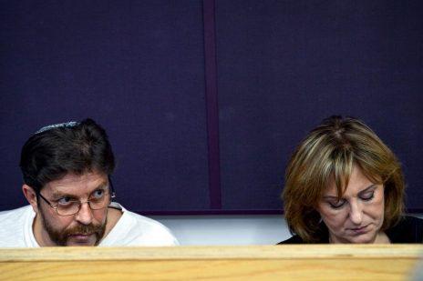 פאינה קירשנבאום ודאוד גודובסקי בבית-המשפט המחוזי בתל-אביב, 19.3.18 (צילום: פלאש 90)