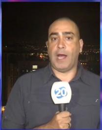 נועם אמיר, הכתב הצבאי של חדשות ערוץ 20 (צילום מסך)