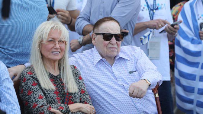 שלדון ומרים אדלסון באירוע לרגל יום העצמאות ה-70 של מדינת ישראל. תל-אביב, 19.4.18 (צילום: יוסי זמיר)