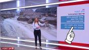 """החזאית אילנית אדלר ב""""חדשות סוף השבוע"""", 28.4.2018 (צילום מסך)"""