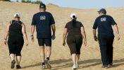 צועדים במכון וינגיט (צילום: משה שי)