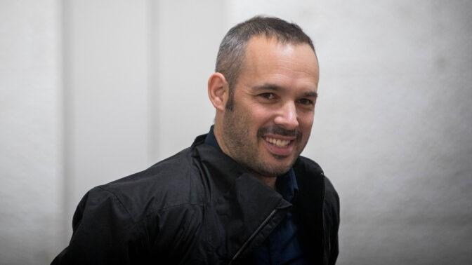 """יאיר טרצ'יצקי, יו""""ר ארגון העיתונאים בישראל. 4.2.2018 (צילום: יונתן זינדל)"""