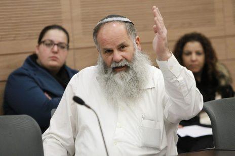 נתן נתנזון, איש המחתרת היהודית לשעבר, באחד מדיוני ועדות הכנסת (צילום: מרים אלסטר)