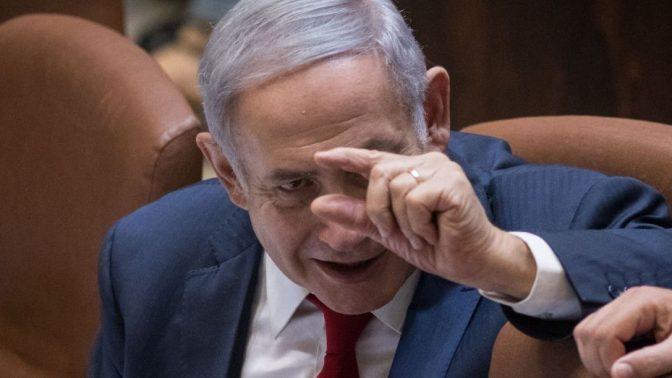 ראש ממשלת ישראל, בנימין נתניהו, במליאת הכנסת, בישיבה שבה אושר חוק הלאום. 18.7.2018 (צילום: הדס פרוש)