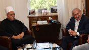 """ראש הממשלה בנימין נתניהו נפגש עם מוואפק טריף, המנהיג הרוחני של העדה הדרוזית בישראל, 27.7.2018 (צילום: קובי גדעון, לע""""מ)"""