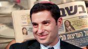 """בנימין (ביני) זומר, המנהל בישראל מטעם נובל-אנרג'י. ברקע: גיליון של """"בשבע"""" (צילומים: פלאש 90 וצילום מסך)"""