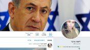 """ראש הממשלה נתניהו בראש עמוד הטוויטר של """"לימור גירבי"""", שהוא לדברי נעם רותם אחד העמודים הנכללים ברשת הבוטים. הצילום הוא של הידוענית הישראלית מריה דומרק (צילום מסך)"""