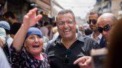 משה ליאון בשוק מחנה יהודה, 9.9.2018 (צילום: יונתן זינדל)