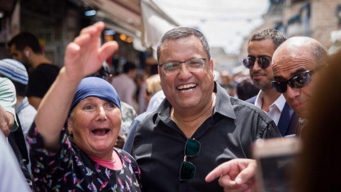משה ליאון בשוק מחנה-יהודה, 9.9.2018 (צילום: יונתן זינדל)