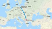 משצ'צ'ין לבלקן, במפת גוגל (צילום מסך)