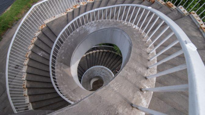 מדרגות ספירליות, פולין (צילום: יהב גמליאל)