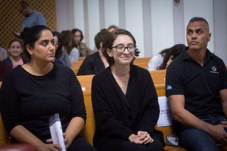 לארה אל-קאסם בבית-המשפט העליון, 17.10.2018 (צילום: מרים אלסטר)