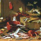 """יאן ואן-קסל, """"חתולים עם טבע דומם"""", 1665–1679 (נחלת הכלל)"""