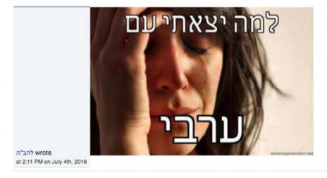 """צילום מסך מתוך עמוד להב""""ה בפייסבוק כפי שצורף לכתב ההגנה"""