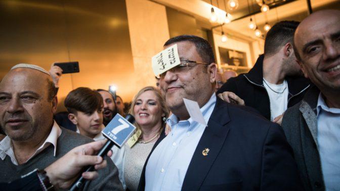 משה ליאון, מועמד לראשות עיריית ירושלים, ביום הבחירות, 30.10.18 (צילום: הדס פרוש)