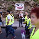 """הפגנת """"האפודים הצהובים"""", תל-אביב, 14.12.2018 (צילום: גילי יערי)"""