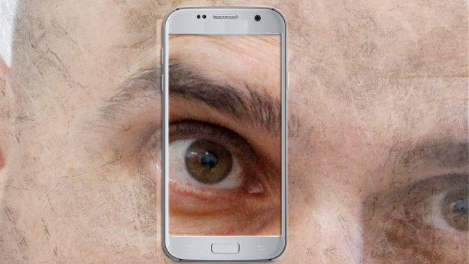 אפי נוה וטלפון סלולרי (צילום מקורי: פלאש 90)