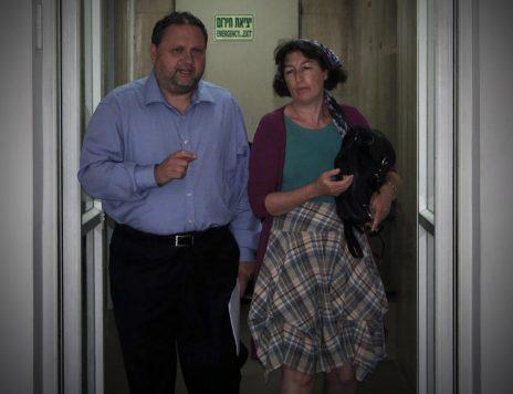 שלמה ושרה ג'ו בן-צבי, בית הדין לעבודה, 29.6.2015 (צילום: אורן פרסיקו)