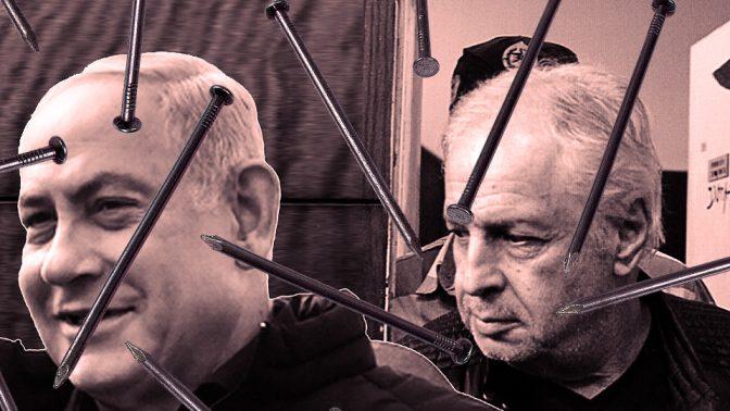 שאול אלוביץ' (מימין) ובנימין נתניהו (צילומים מקוריים: פלאש 90)