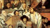 יהודים מתפללים בבית הכנסת ביום הכיפורים (1878) מאת מאוריצי גוטליב (נחלת הכלל)