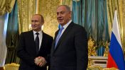 """ראש הממשלה בנימין נתניהו עם נשיא רוסיה, ולדימיר פוטין (צילום: חיים צח, לע""""מ)"""