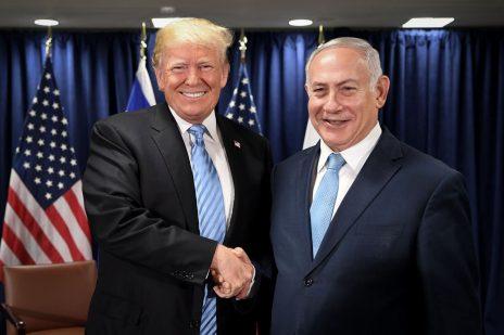 """ראש הממשלה בנימין נתניהו עם נשיא ארצות-הברית, דונלד טראמפ, ספטמבר 2018 (צילום: אבי אוחיון, לע""""מ)"""