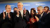 בכירי רשימת כחול-לבן (מימין לשמאל): גבי אשכנזי, יאיר לפיד, בני גנץ ומשה יעלון, אתמול באירוע שבו הכריזו על הריצה המשותפת (צילום: נעם ריבקין-פנטון)