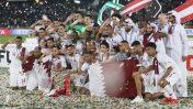 נבחרת קטאר חוגגת את זכייתה בגביע אסיה 2019 (צילום: Hadi Abyar, Mehr News Agency, רישיון CC BY 4.0)
