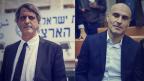 """מימין: יו""""ר לשכת עורכי הדין לשעבר אפי נוה, ומחליפו הזמני אבי חימי (צילומים: יונתן זינדל ואבי דישי)"""