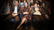 """יו""""ר לשכת עורכי-הדין אפי נוה עם שרת המשפטים איילת שקד ונשיאת בית-המשפט העליון מרים נאור, נובמבר 2017 (צילום מקורי: פלאש 90)"""