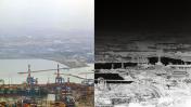 מפרץ חיפה, צילום מעובד (צילום מקורי: יניב נדב)