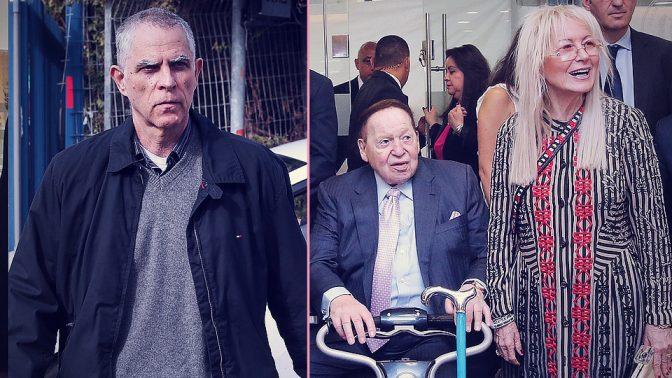 """מרים ושלדון אדלסון, הבעלים של """"ישראל היום""""; נוני מוזס, מו""""ל של """"ידיעות אחרונות"""" (צילומים: פלאש 90)"""