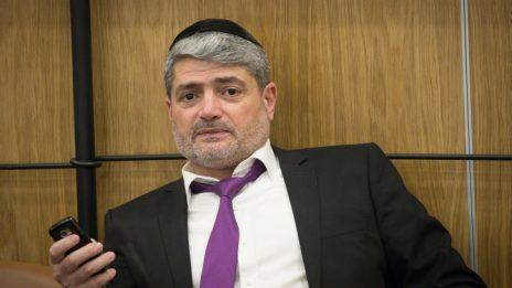 יצחק חדאד בישיבת ועדת הבחירות המרכזית, 3.4.2019 (צילום: יונתן זינדל)