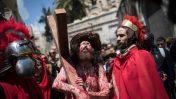 """תהלוכת """"ויה דולורוזה"""" בעיר העתיקה בירושלים, יום שישי הטוב, 19.4.19 (צילום: הדס פרוש)"""