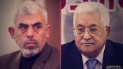 """יו""""ר הרשות הפלסטינית מחמוד עבאס ומנהיג חמאס בעזה יחיא סינוואר (צילומים: פלאש 90)"""