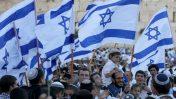 """""""ריקוד דגלים"""" בירושלים (צילום: נתי שוחט)"""