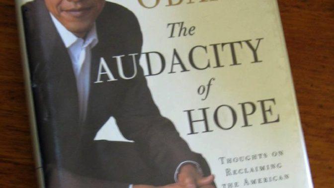 עטיפת הספר The Audacity of Hope (צילום: elycefeliz, רישיון CC BY-NC-ND 2.0)