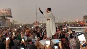 נשים מפגינות בסודן נגד המשטר, אפריל 2019 (צילום מסך)