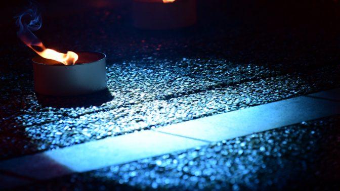 נרות בטקס יום הזיכרון לחללי מערכות ישראל, 7.5.2019 (צילום: תומר נויברג)