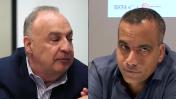 """מימין: מנכ""""ל חדשות 13 (לשעבר חדשות 10) גולן יוכפז ואיל ההון לן בלווטניק, בעל השליטה בערוץ 13 (צילומי מסך)"""
