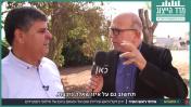 """ד""""ר סמיר מחאמיד, ראש עיריית אום אל פחם (משמאל) והעיתונאי ירון דקל, """"חדשות השבוע"""" בכאן 11 (צילום מסך)"""
