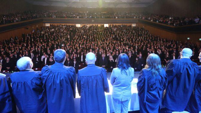 עורכי-דין בטקס הסמכה, ירושלים 2018 (צילום: יוסי זמיר)